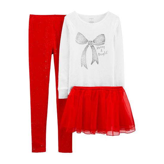 Carter's Little & Big Girls 3-pc. Pajama Set