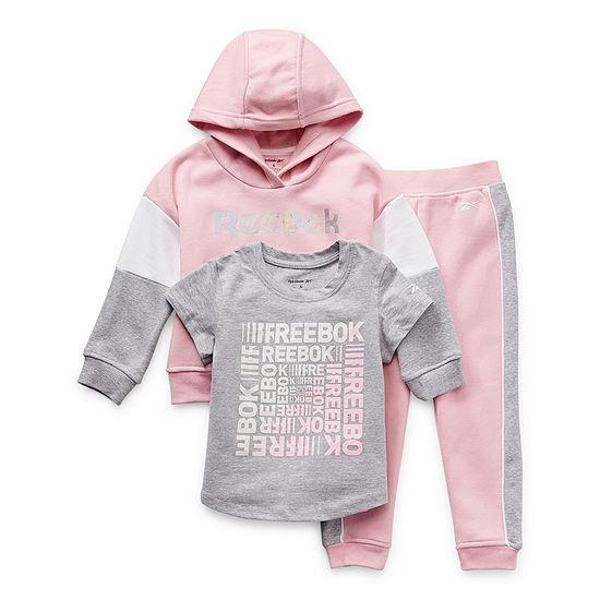 Reebok Little Girls 3-pc. Pant Set