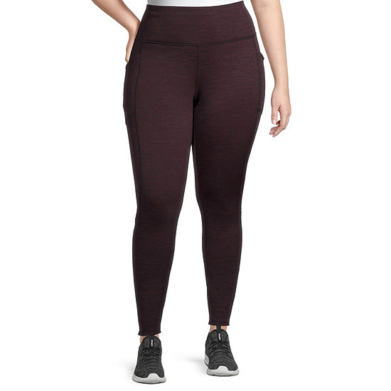 Xersion Womens High Rise Full Length Fleece Lined Leggings Plus