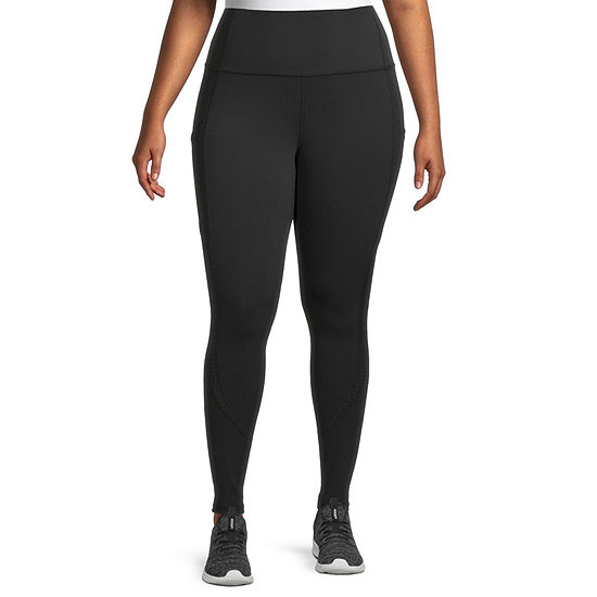 Xersion Womens High Rise Full Length Leggings Plus
