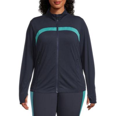 Xersion Move Womens Mock Neck Long Sleeve Sweatshirt Plus
