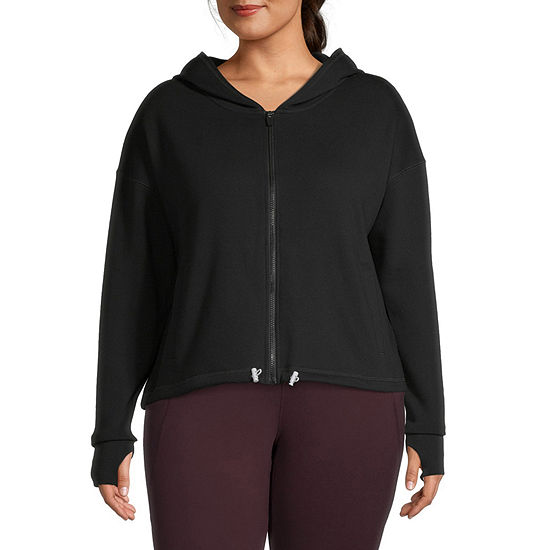 Xersion Move Womens Hooded Neck Long Sleeve Hoodie Plus