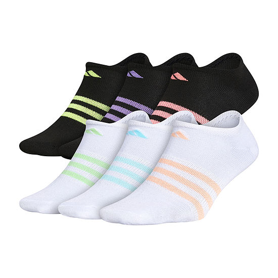 adidas Big Girls 6 Pair No Show Socks
