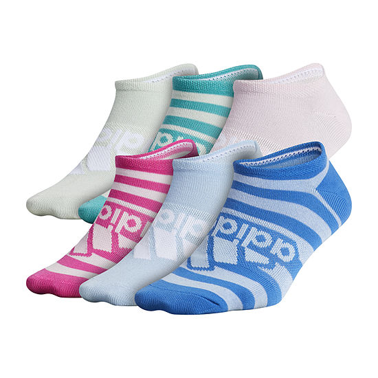 adidas Big Girls 6 Pair No Show Socks