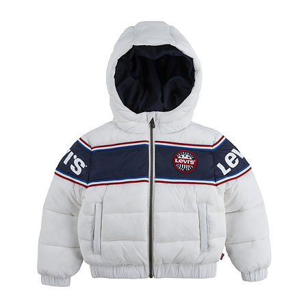 Levi's Big Boys Water Resistant Heavyweight Puffer Jacket. Large . White