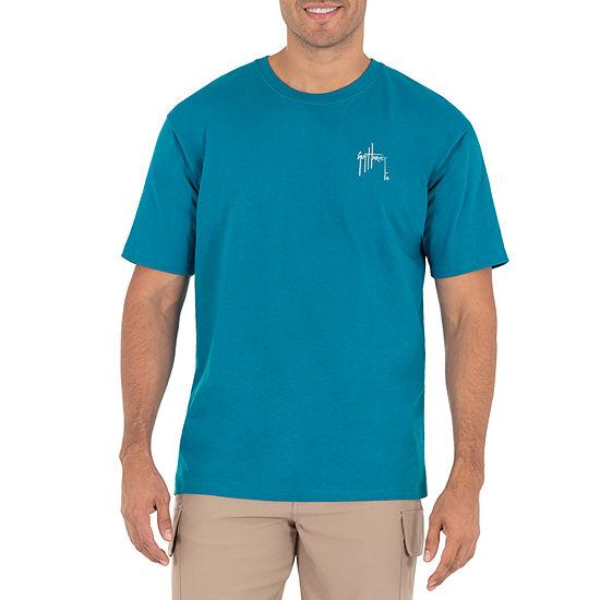 Guy Harvey Mens Crew Neck Short Sleeve Graphic T-Shirt