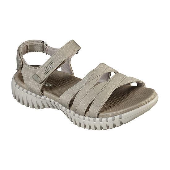 Skechers Go Walk Smart Womens Adjustable Strap Footbed Sandals