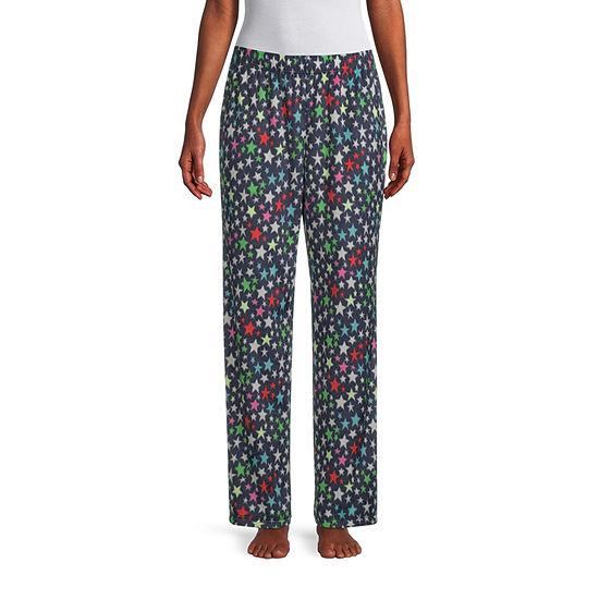 Sleep Chic Womens-Petite Fleece Pajama Pants
