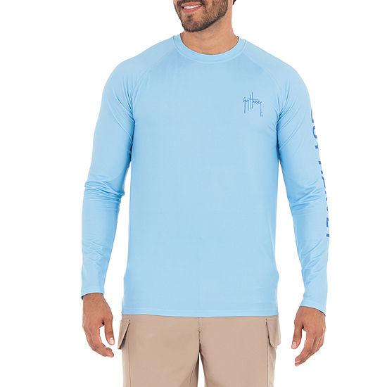 Guy Harvey Mens Crew Neck Long Sleeve Graphic T-Shirt