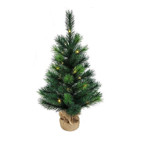 Kurt Adler 2 1/2 Foot Pine Pre-Lit Christmas Tree