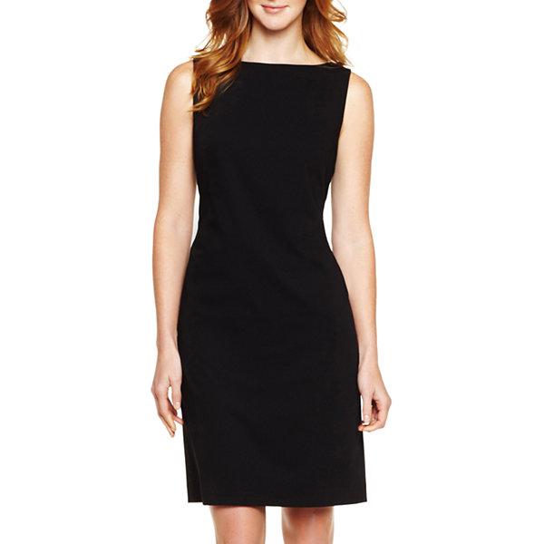 Liz Claiborne Sleeveless Sheath Dress Petite JCPenney
