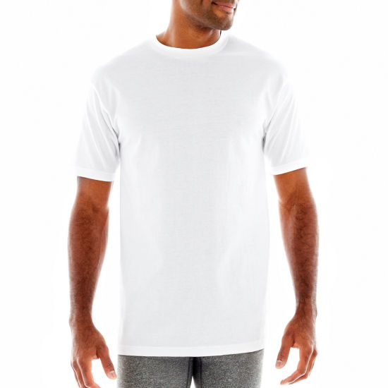 Stafford® 4-pk. Heavyweight Crewneck T-Shirts