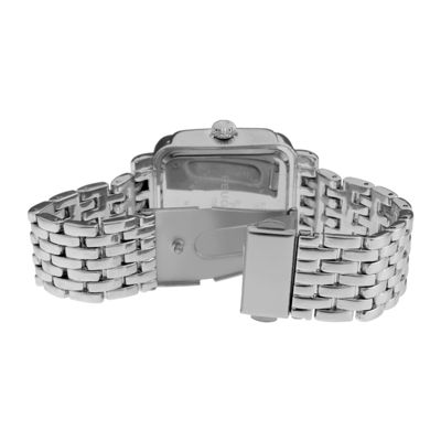 Peugeot® Womens Crystal-Accent Silver-Tone Panther-Link Bracelet Watch