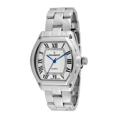 Peugeot® Womens Silver-Tone Tonneau Bracelet Watch