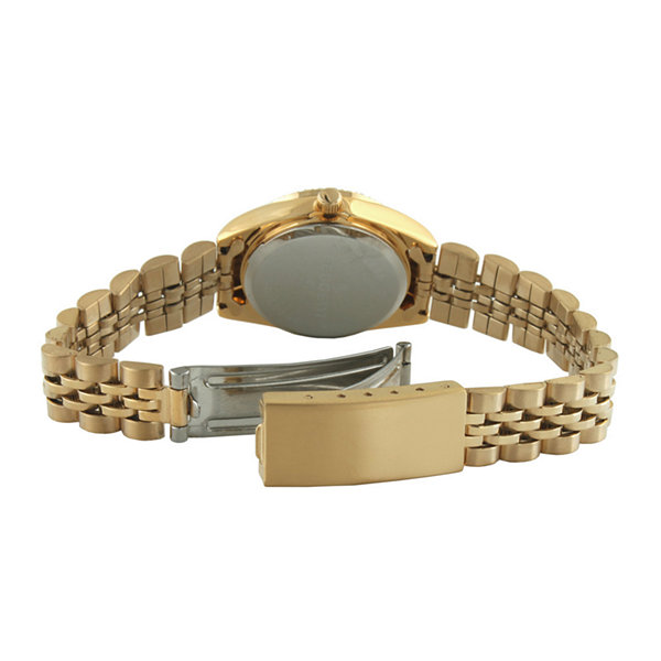 Peugeot® Womens Interchangeable 4-Bezel Gold-Tone Bracelet Watch Set