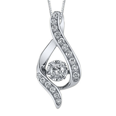 Sirena® 3/8 CT. Diamond 14K White Gold Infinity Pendant Necklace