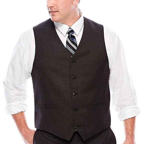 JF J.Ferrar® Black Nailhead Suit Vest - Big & Tall