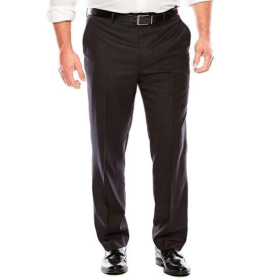JF J.Ferrar® Black Nailhead Flat-Front Suit Pants - Big & Tall