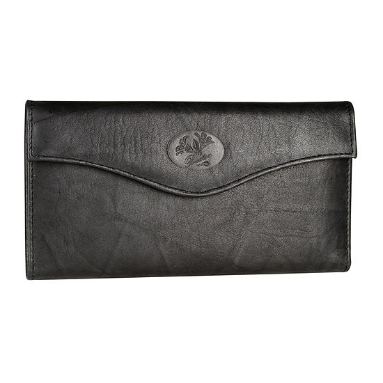 Buxton Heiress Leather Organizer Clutch Wallet