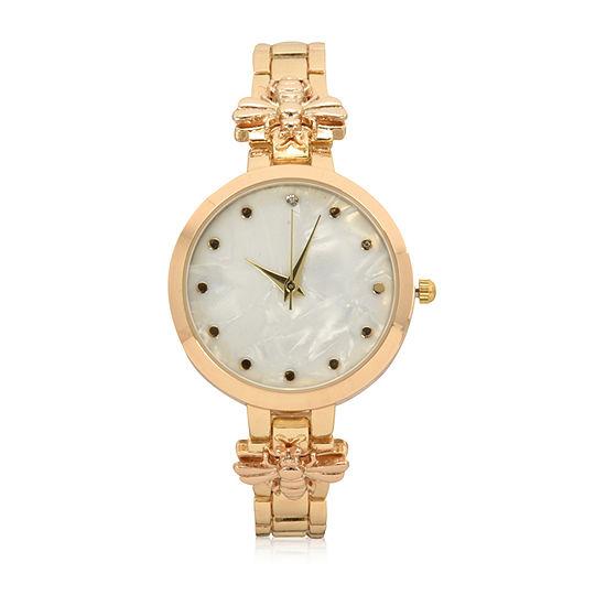 Geneva Womens Gold Tone Bracelet Watch-Wac8663jc