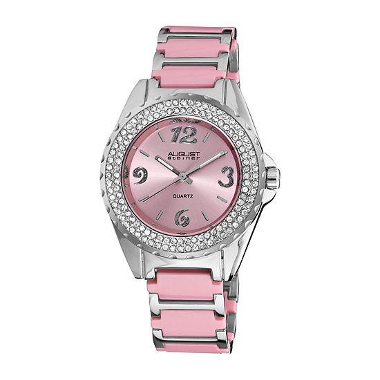 August Steiner Womens Silver Tone Bracelet Watch-As-8036pk
