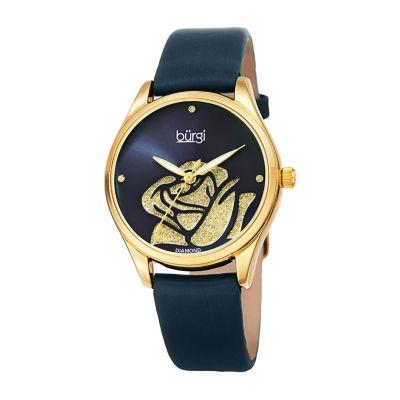 Burgi Womens Blue Strap Watch-B-189bu