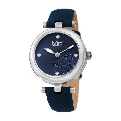 Burgi Womens Blue Strap Watch-B-197bu
