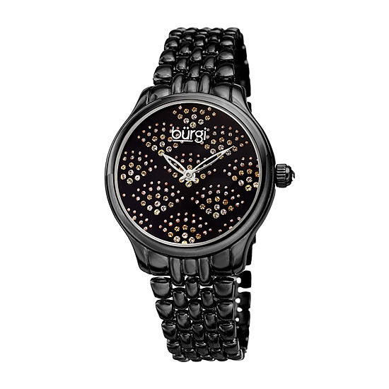 Burgi Womens Black Bracelet Watch-B-205bk