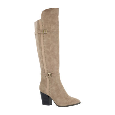 Easy Street Womens Melrose Dress Block Heel Zip Boots