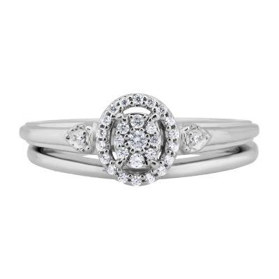 Womens 1/6 CT. T.W. Genuine White Diamond 10K Gold Bridal Set