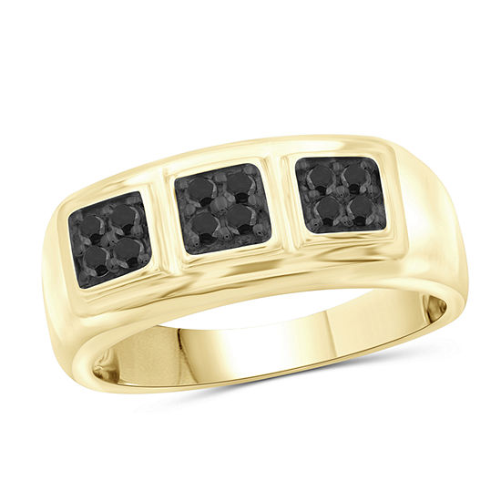 Mens 1 2 Ct Tw Genuine Black Diamond 14k Gold Over Silver Ring