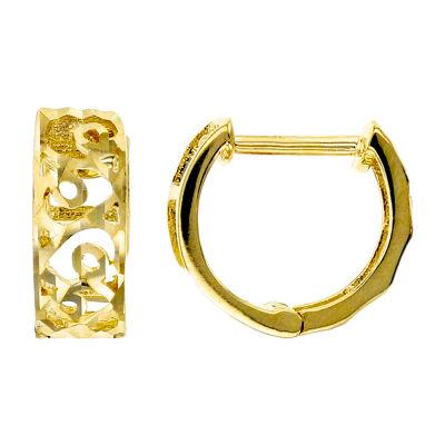 14K Gold 11mm Hoop Earrings