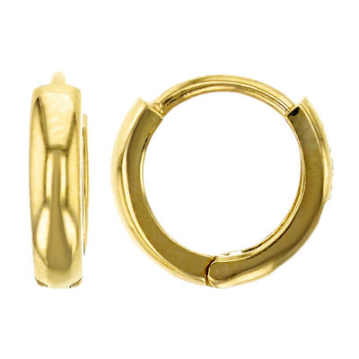 14K Gold 9mm Hoop Earrings