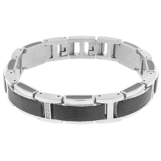 Stainless Steel 9 Inch Solid Link Bracelet