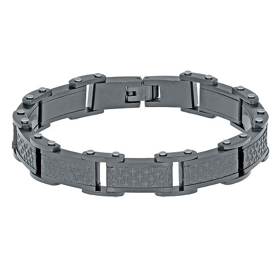 Stainless Steel 8 3/4 Inch Solid Link Bracelet