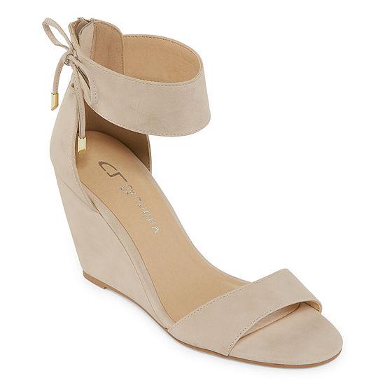 CL by Laundry Womens Corie Pumps Open Toe Wedge Heel