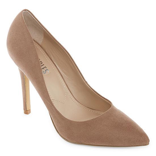 Style Charles Womens Pio Pointed Toe Stiletto Heel Slip-on Pumps