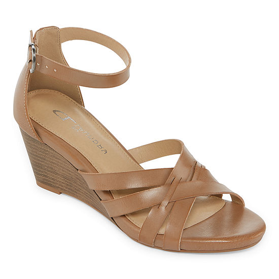 CL by Laundry Womens Hattie Wedge Sandals