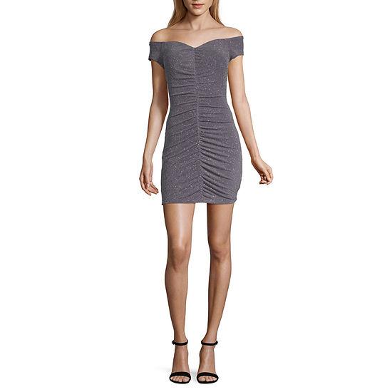 Speechless Short Sleeve Party Dress Juniors