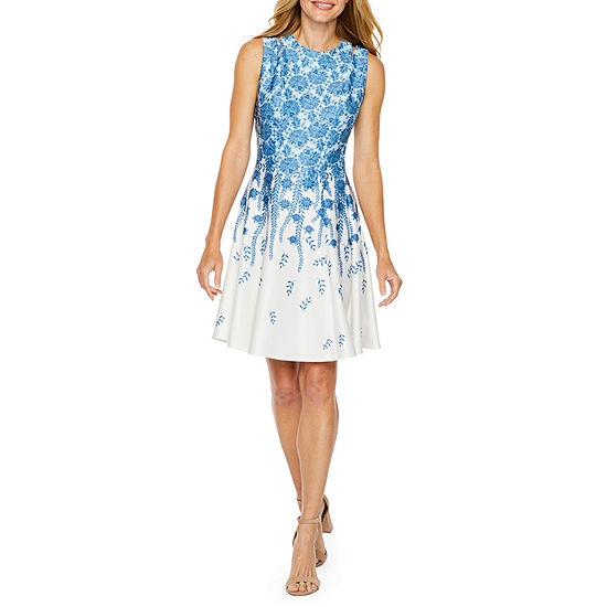 398d7f37f952 Danny & Nicole Sleeveless Floral Fit & Flare Dress - JCPenney