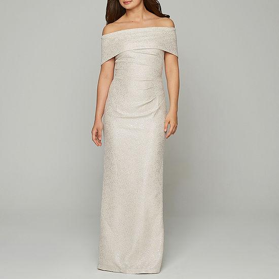 Blu Sage Sleeveless Off The Shoulder Wedding Gown