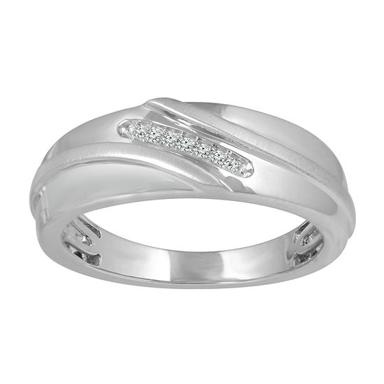 Mens Diamond Accent White Diamond 10k Gold Band