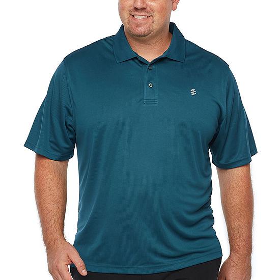 Izod Ss Champion Short Sleeve Grid Jacquard Polo Shirt Big And Tall