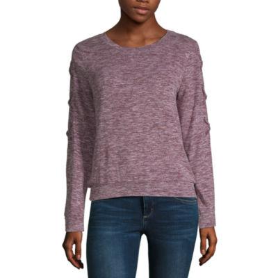 Self Esteem Womens Round Neck Long Sleeve Sweatshirt Juniors