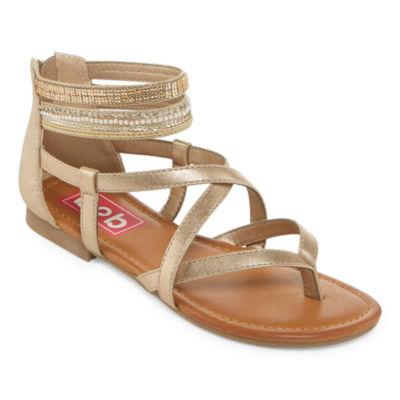 Pop Womens Eiffel Ankle Strap Flat Sandals