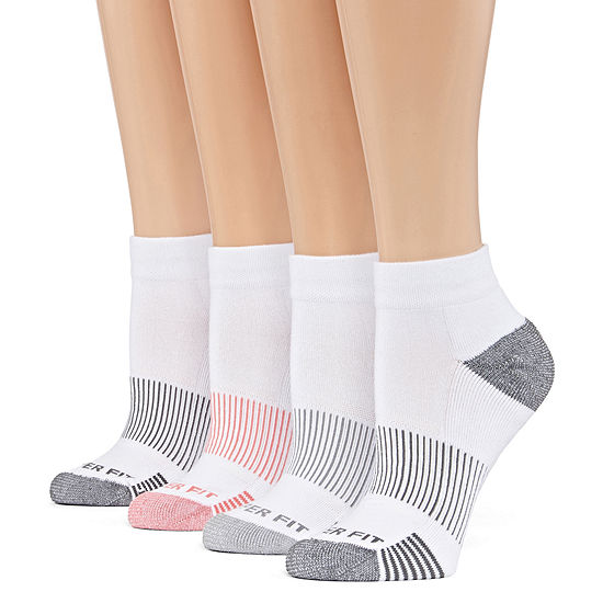 Copper Fit 4 Pair Quarter Socks - Womens