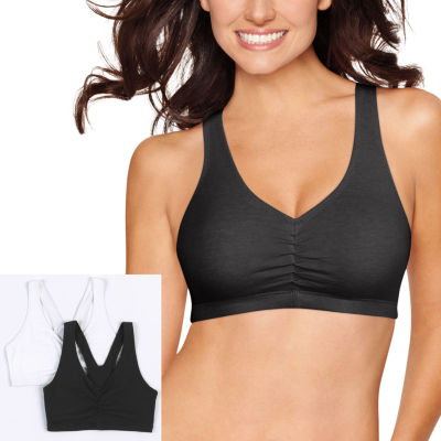 Hanes X-Temp® Comfy Support 2ply Pullover Wireless Racerback Unlined Full Coverage Bra-Dhhb70