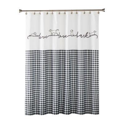 Saturday Knight Farmhouse Dogs Shower Curtain