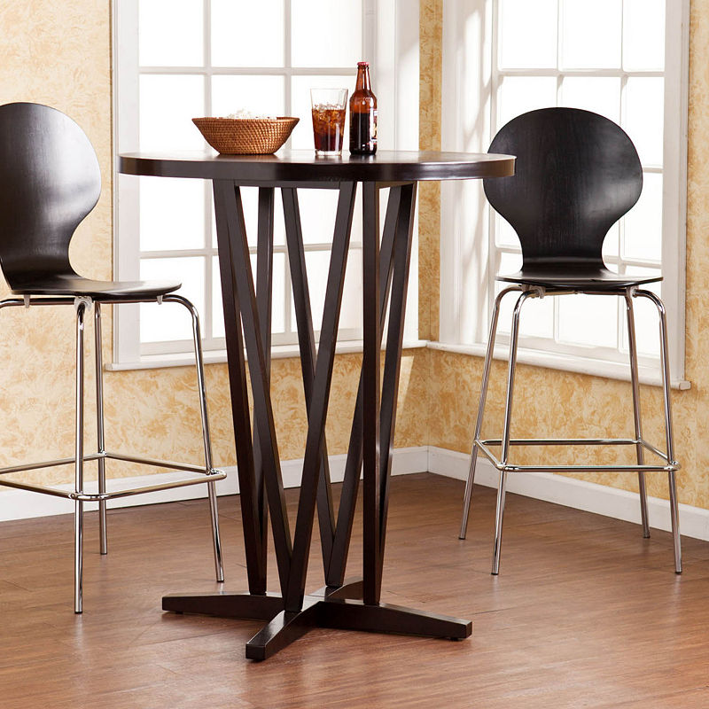 Wooden Door Kitchen Bar Table, Brown