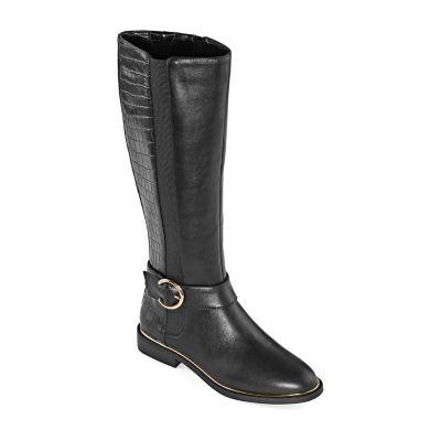 Liz Claiborne Womens Festival Block Heel Riding Boots